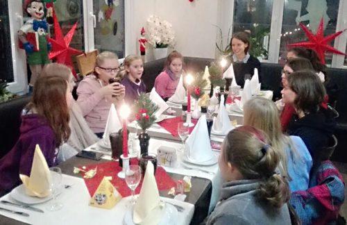 Weihnachtsfeier der weiblichen D-Jugend