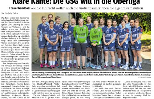 Klare Kante: Die GSG will in die Oberliga ( Sport in Duisburg 07.09.2016 )