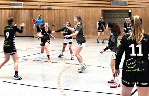 Weibliche C-Jugend: Knappe Derbyniederlage gegen Biefang